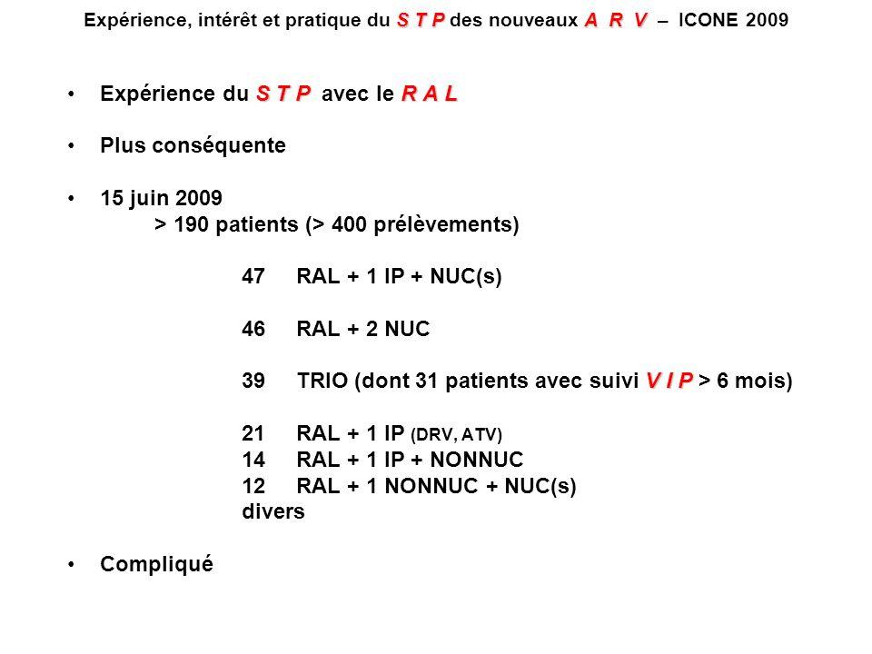 STPA R V Expérience, intérêt et pratique du S T P des nouveaux A R V – ICONE 2009 S T PR A LExpérience du S T P avec le R A L Plus conséquente 15 juin