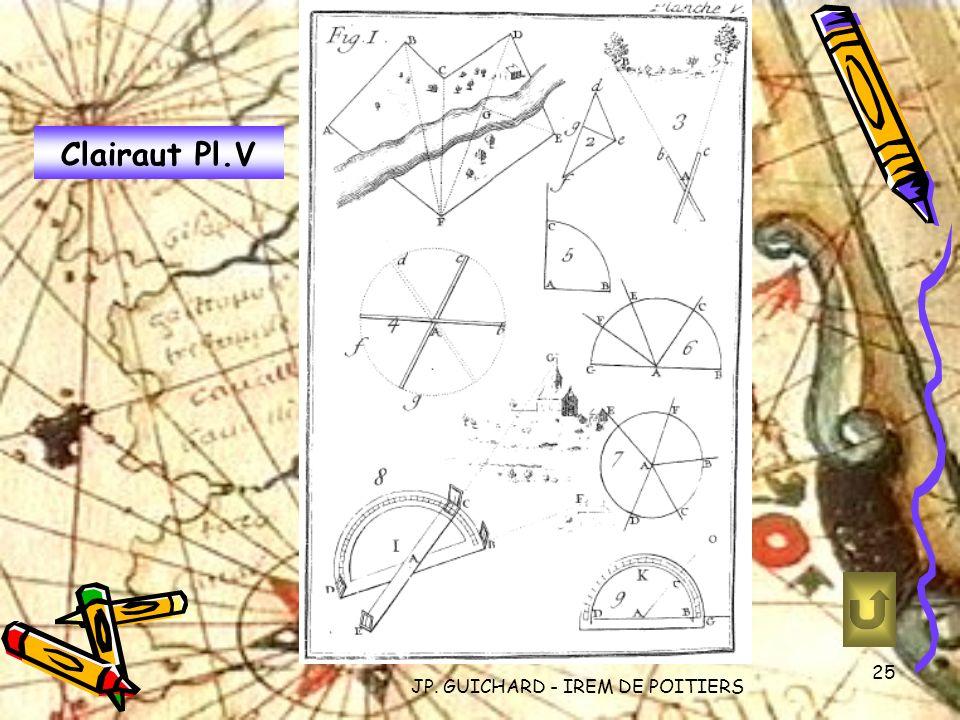 JP. GUICHARD - IREM DE POITIERS 25 Clairaut Pl.V
