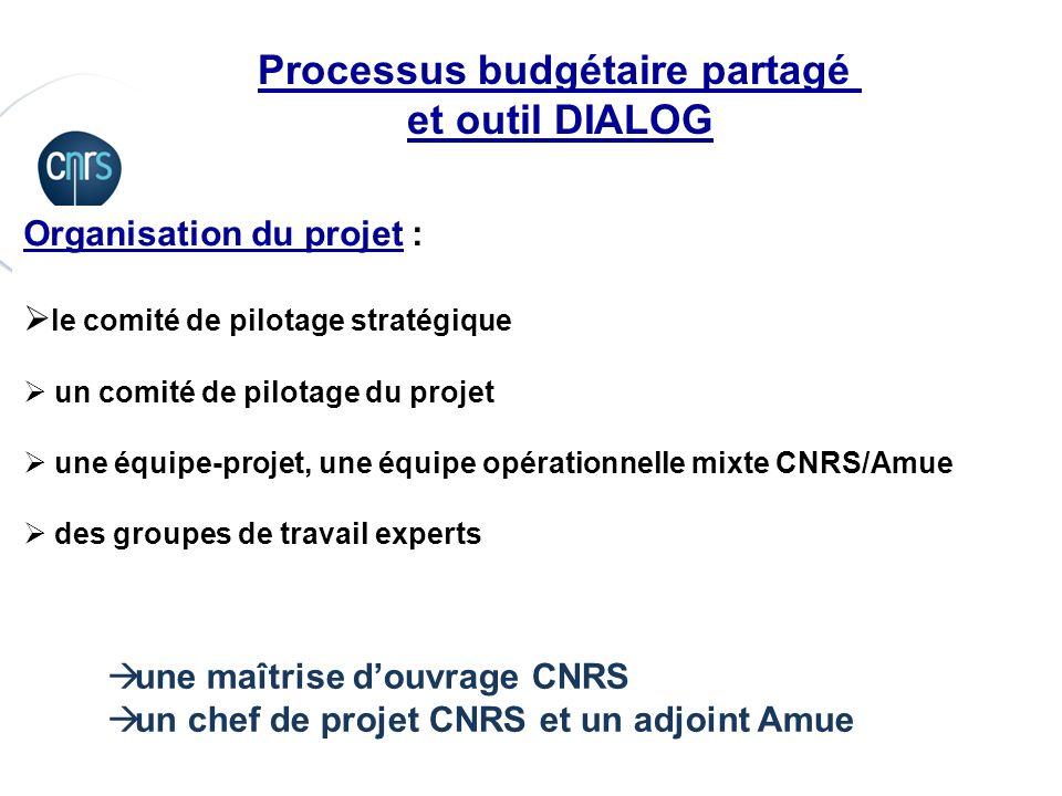 P. 13 Processus budgétaire partagé et outil DIALOG Organisation du projet : le comité de pilotage stratégique un comité de pilotage du projet une équi