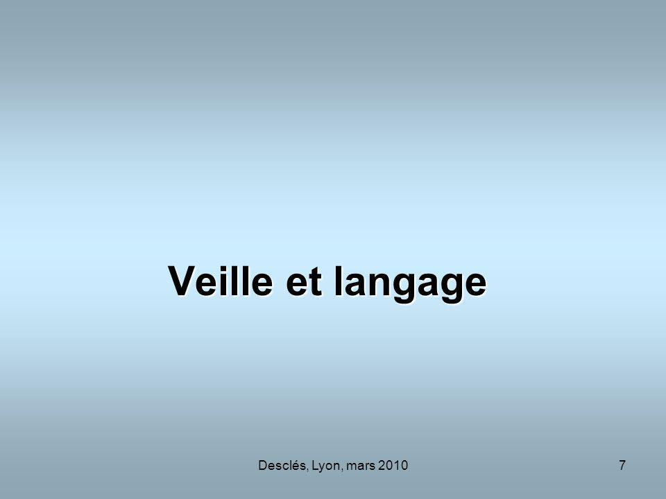 Desclés, Lyon, mars 20107 Veille et langage