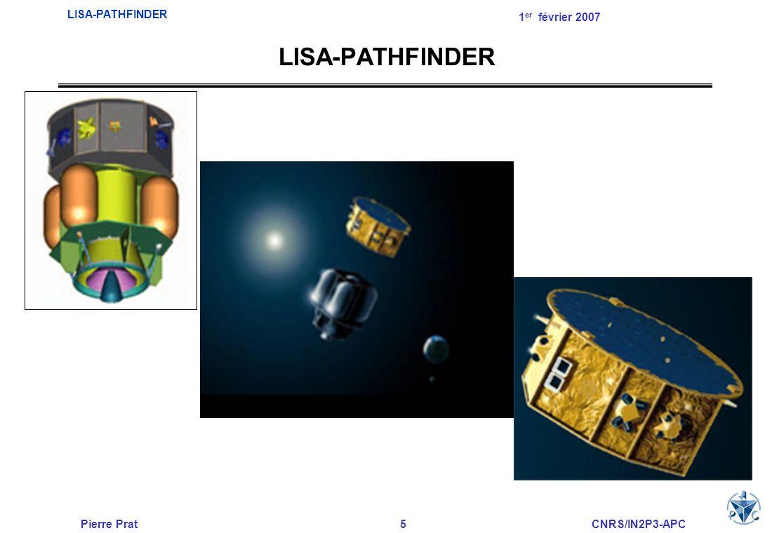 Pierre Prat5CNRS/IN2P3-APC LISA-PATHFINDER 1 er février 2007 LISA-PATHFINDER