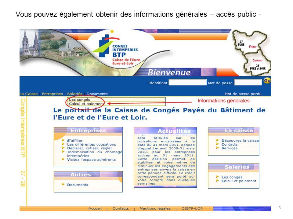 Vous pouvez également obtenir des informations générales – accès public - 3