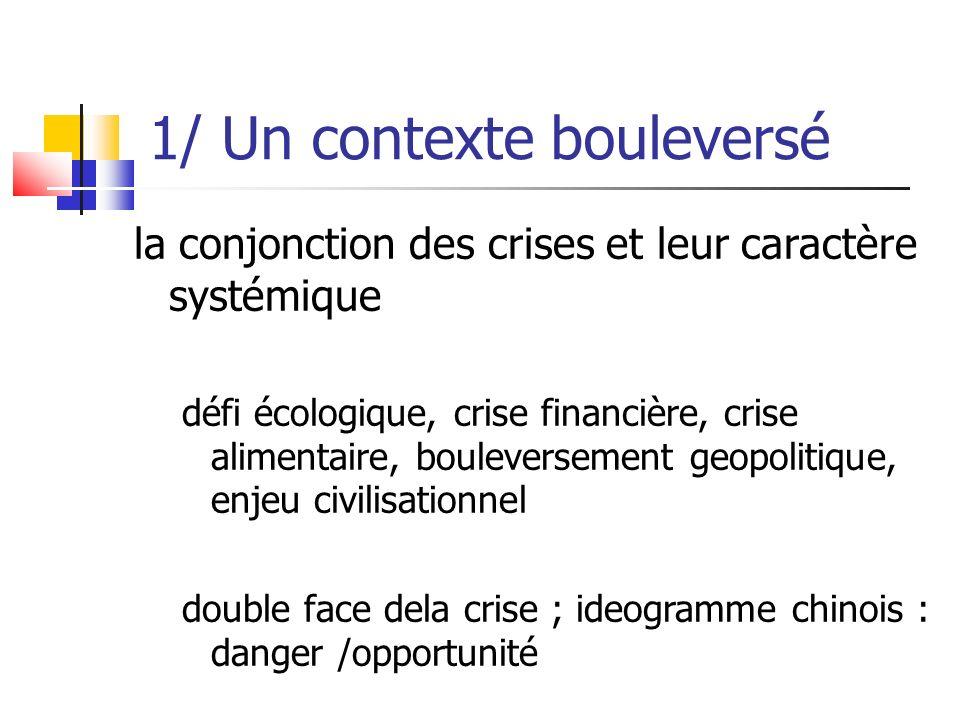 double face des crises danger / opportunité