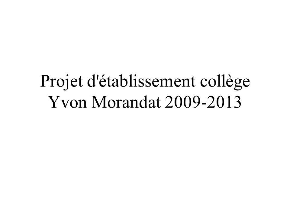 Axe 2: Construction du projet personnel de l élève