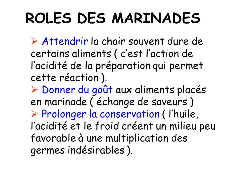 LES MARINADES