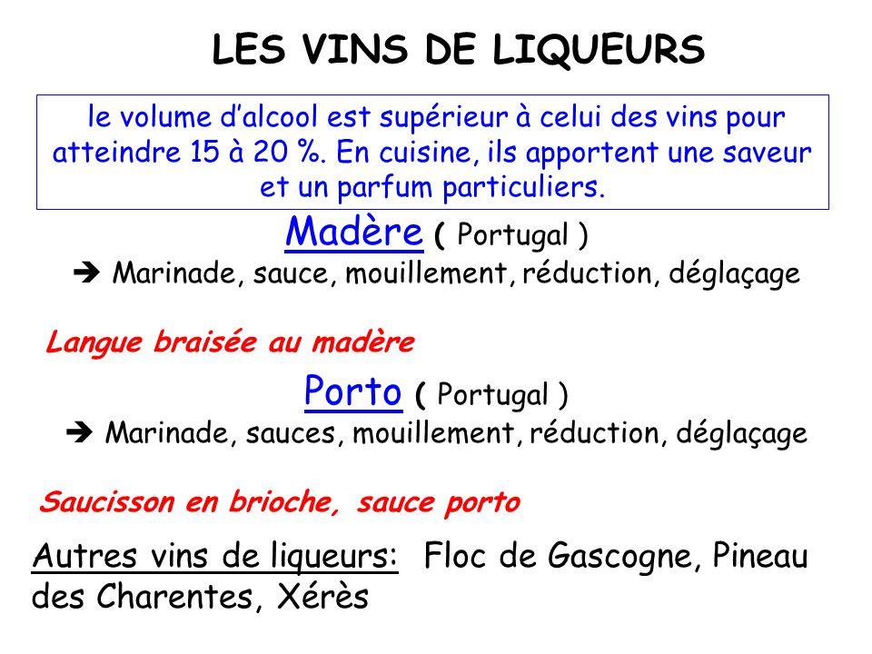fabriqués à partir de jus de raisins fermentés, ces vins contiennent environ 12 % dalcool. Cest en cuisant que les vins libèrent leurs arômes. LES VIN