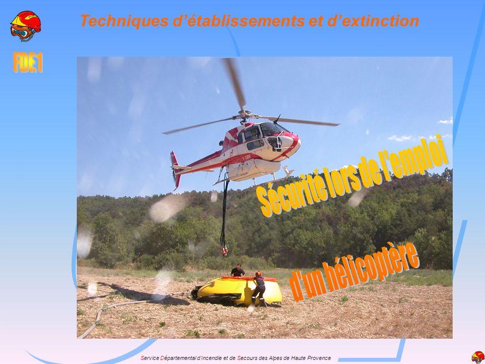 Service Départemental dIncendie et de Secours des Alpes de Haute Provence Techniques détablissements et dextinction