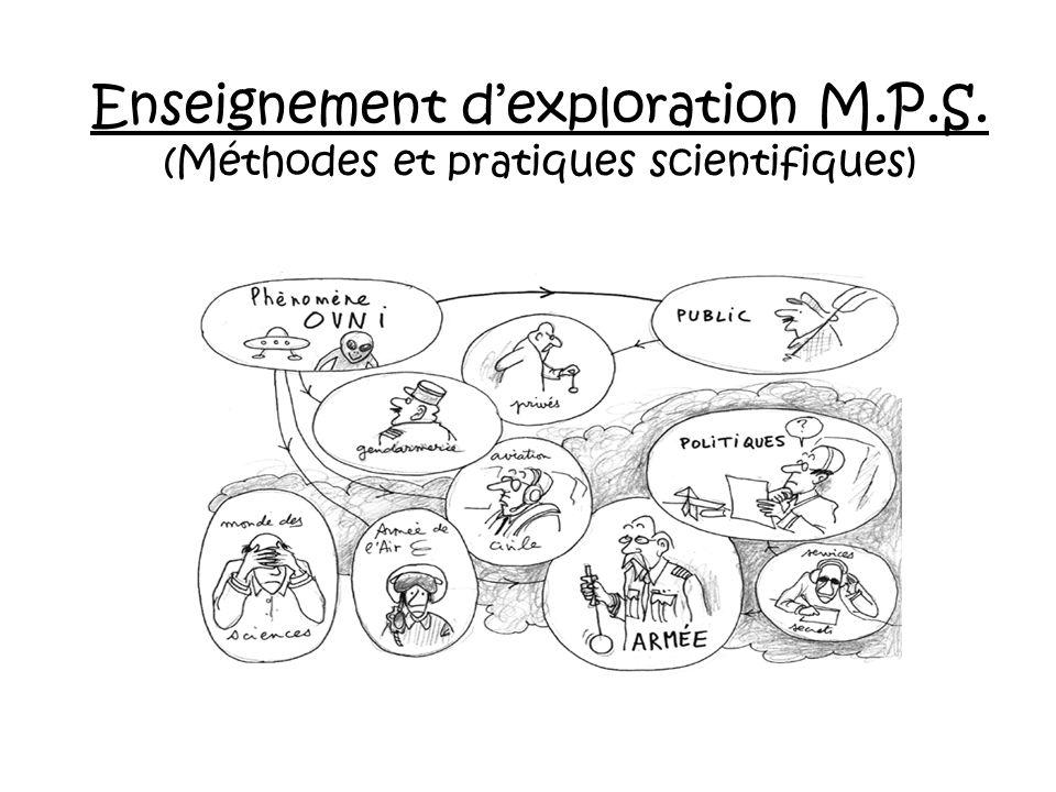 Enseignement dexploration M.P.S. (Méthodes et pratiques scientifiques)