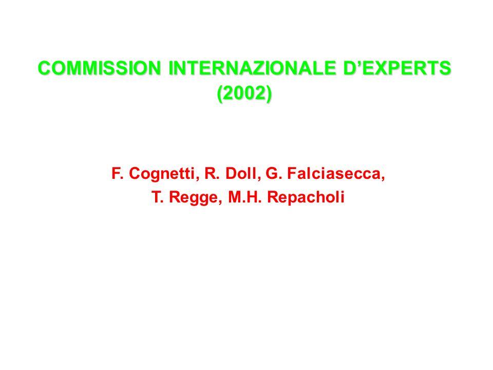 COMMISSION INTERNAZIONALE DEXPERTS (2002) F. Cognetti, R. Doll, G. Falciasecca, T. Regge, M.H. Repacholi