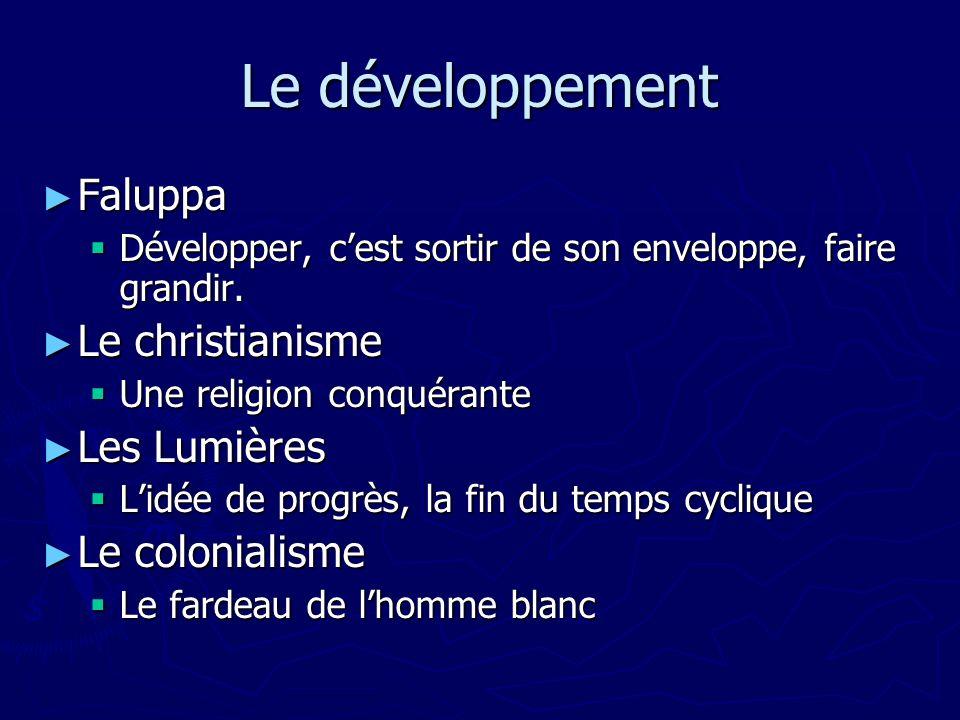 Le développement Faluppa Faluppa Développer, cest sortir de son enveloppe, faire grandir. Développer, cest sortir de son enveloppe, faire grandir. Le