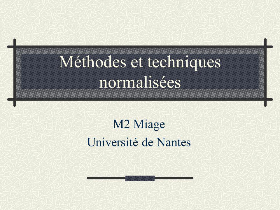 Méthodes et techniques normalisées M2 Miage Université de Nantes