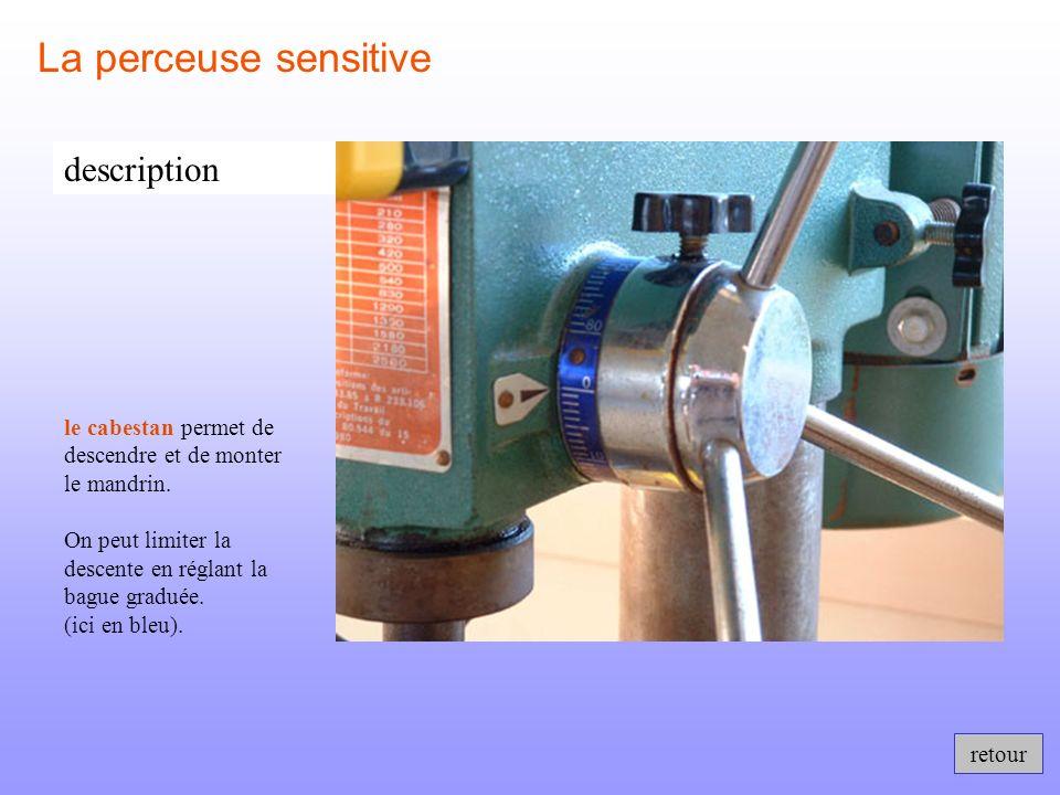 retour La perceuse sensitive description le mandrin permet de fixer des forets de différents diamètres.