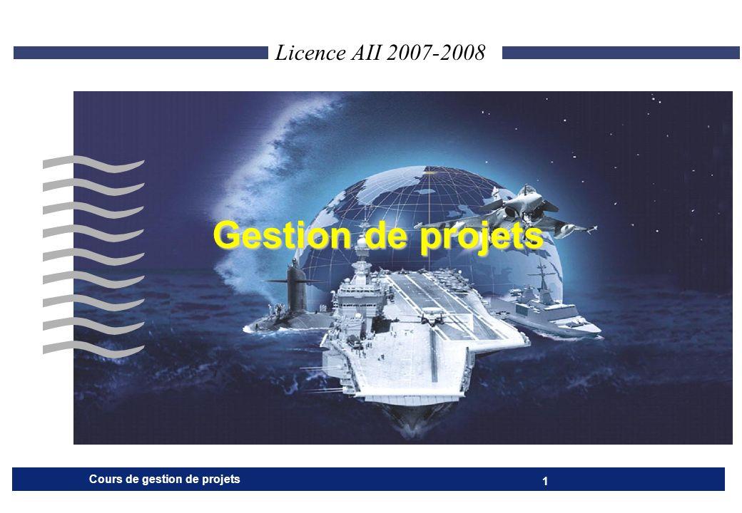 Cours de gestion de projets 32 PREPARATION : PLANIFICATION 4 Calcul de la date au plus tard