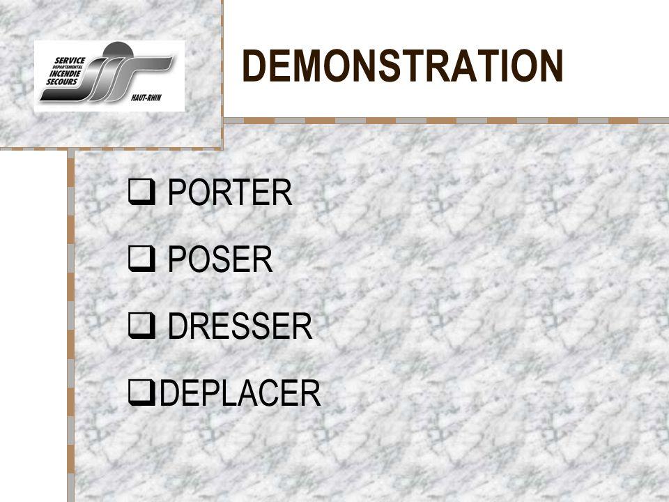 DEMONSTRATION Votre logo ici PORTER POSER DRESSER DEPLACER