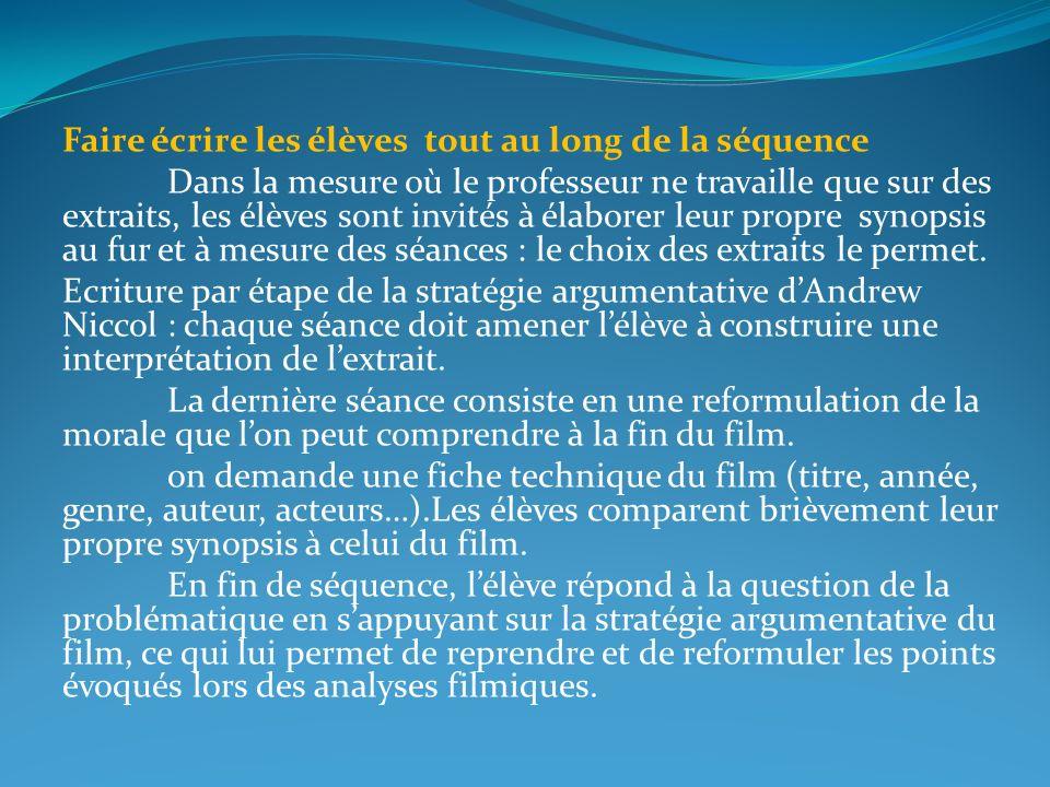 Séance 3 Vincent, Jérôme et Irène, destins croisés Dans ce système eugéniste, quelles sont les failles montrées par ces extraits .