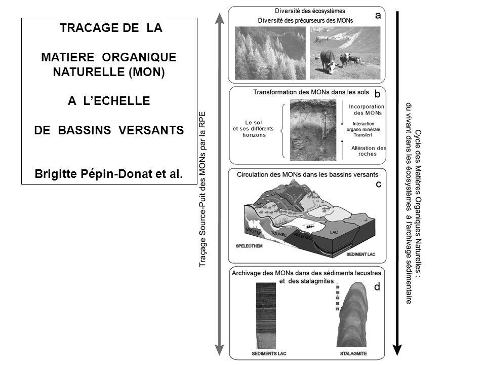 TRACAGE DE LA MATIERE ORGANIQUE NATURELLE (MON) A LECHELLE DE BASSINS VERSANTS Brigitte Pépin-Donat et al.