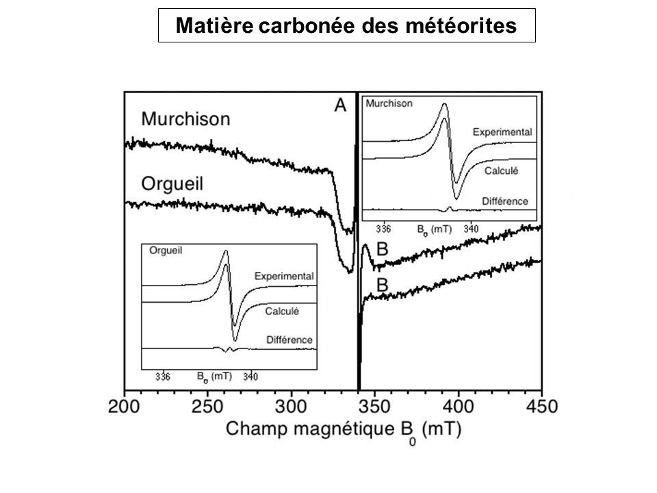 Matière carbonée des météorites