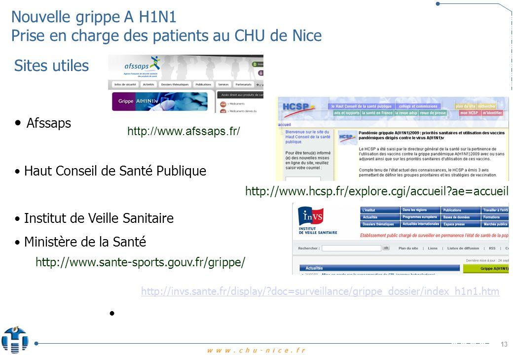 www.chu-nice.fr http://www.cclin-sudouest.com/pages/thema_grippe.html Cclin