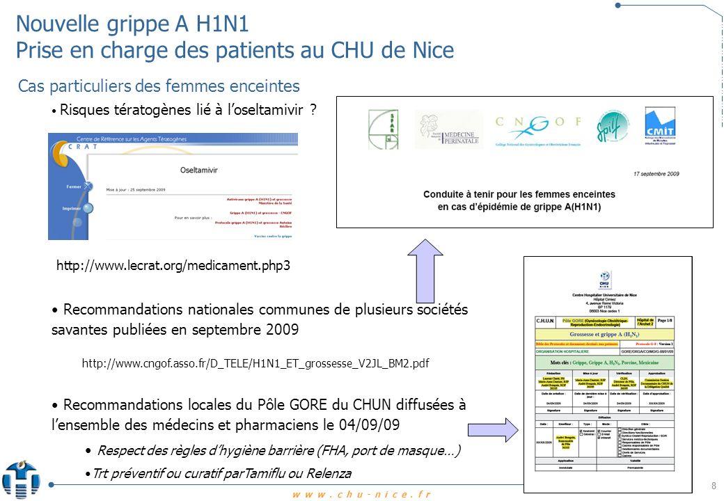 www.chu-nice.fr Nouvelle grippe A H1N1 - Prise en charge des patients au CHU de Nice 9 Qui vacciner .