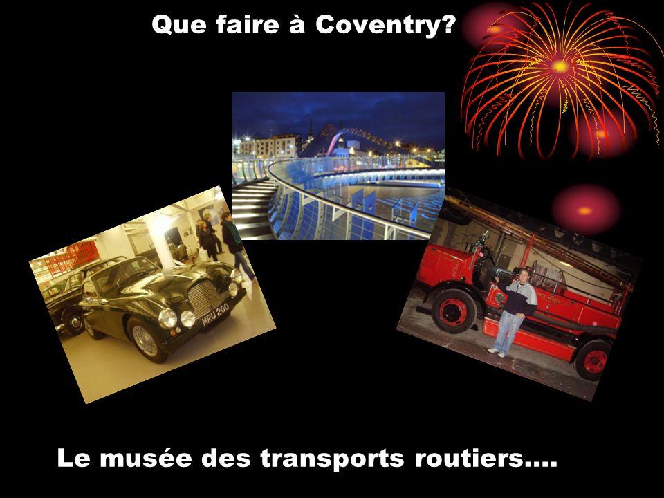 Que faire à Coventry? Le musée des transports routiers….