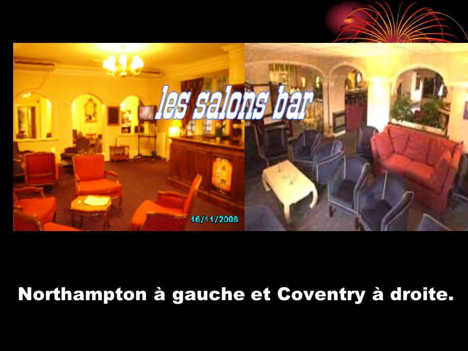 Northampton à gauche et Coventry à droite.