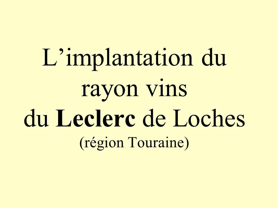 Limplantation du rayon vins du Leclerc de Loches (région Touraine)