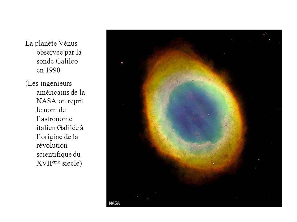 La planète Vénus observée par la sonde Galileo en 1990 (Les ingénieurs américains de la NASA on reprit le nom de lastronome italien Galilée à lorigine