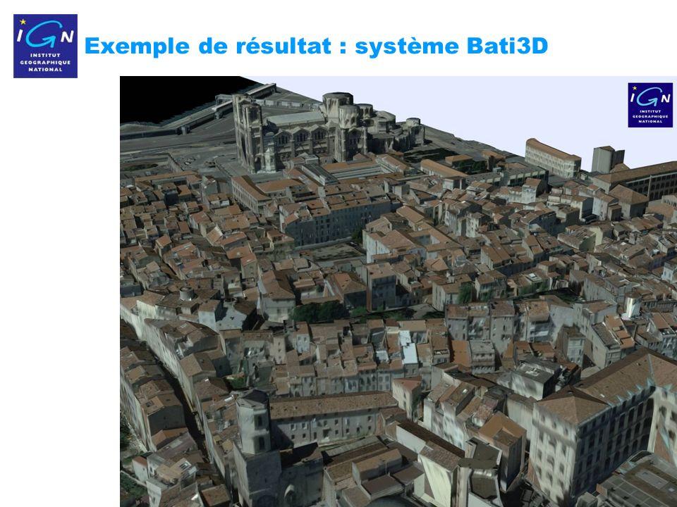 13 Exemple de résultat : système Bati3D