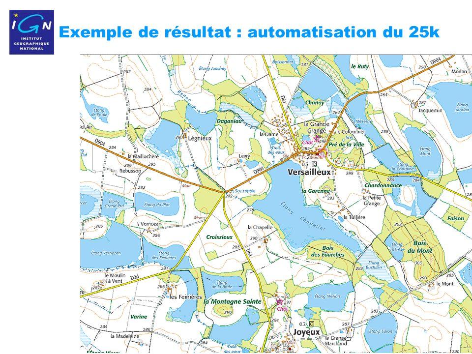 15 Exemple de résultat : automatisation du 25k