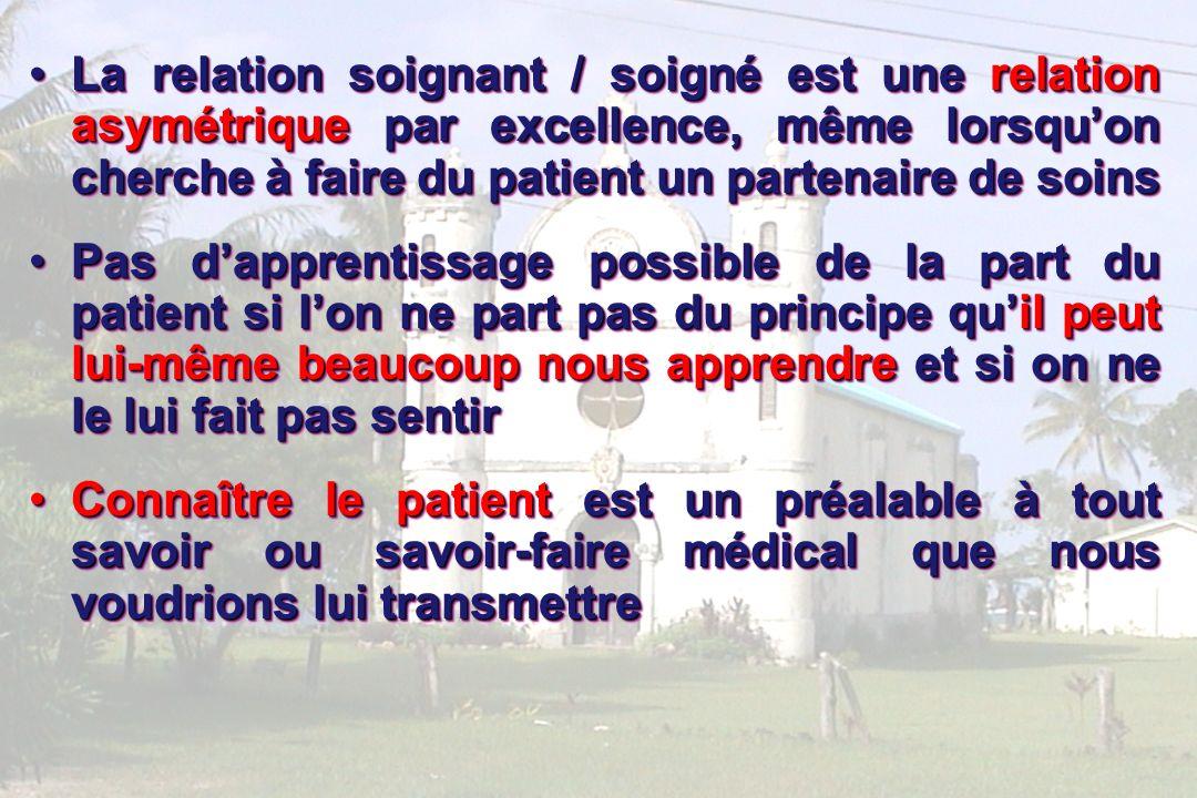 18 La relation soignant / soigné est une relation asymétrique par excellence, même lorsquon cherche à faire du patient un partenaire de soinsLa relati