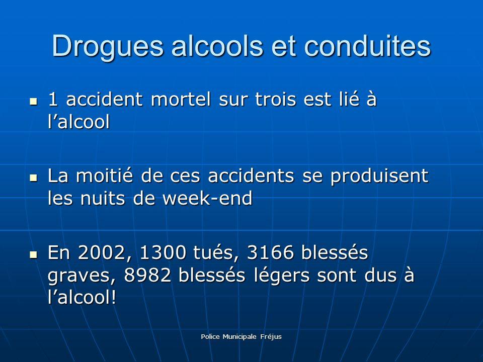 Police Municipale Fréjus Drogues alcools et conduites 1 accident mortel sur trois est lié à lalcool La moitié de ces accidents se produisent les nuits