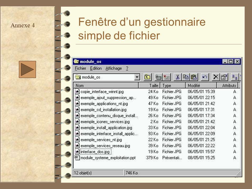 37 Fenêtre dun gestionnaire simple de fichier Annexe 4