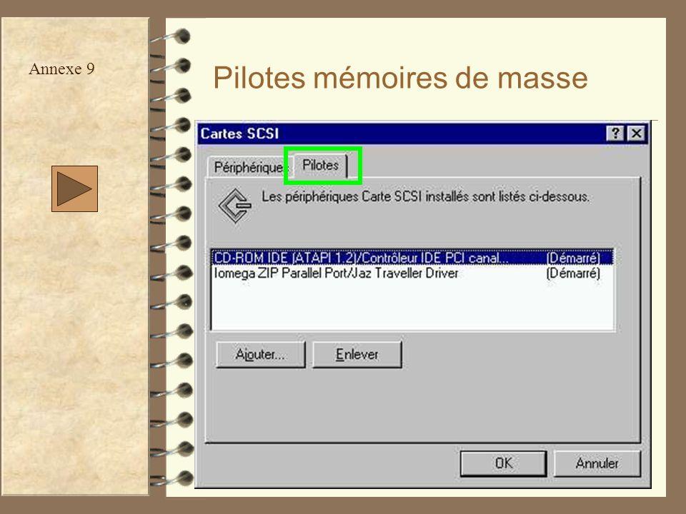52 Pilotes mémoires de masse Annexe 9