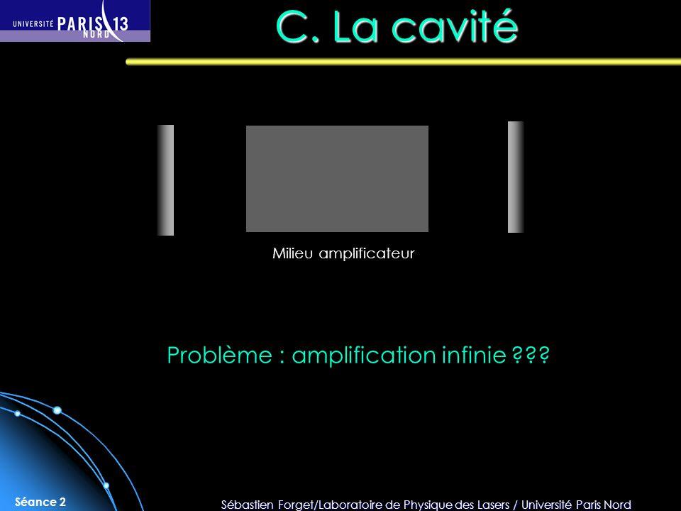 Sébastien Forget/Laboratoire de Physique des Lasers / Université Paris Nord Séance 2 C.