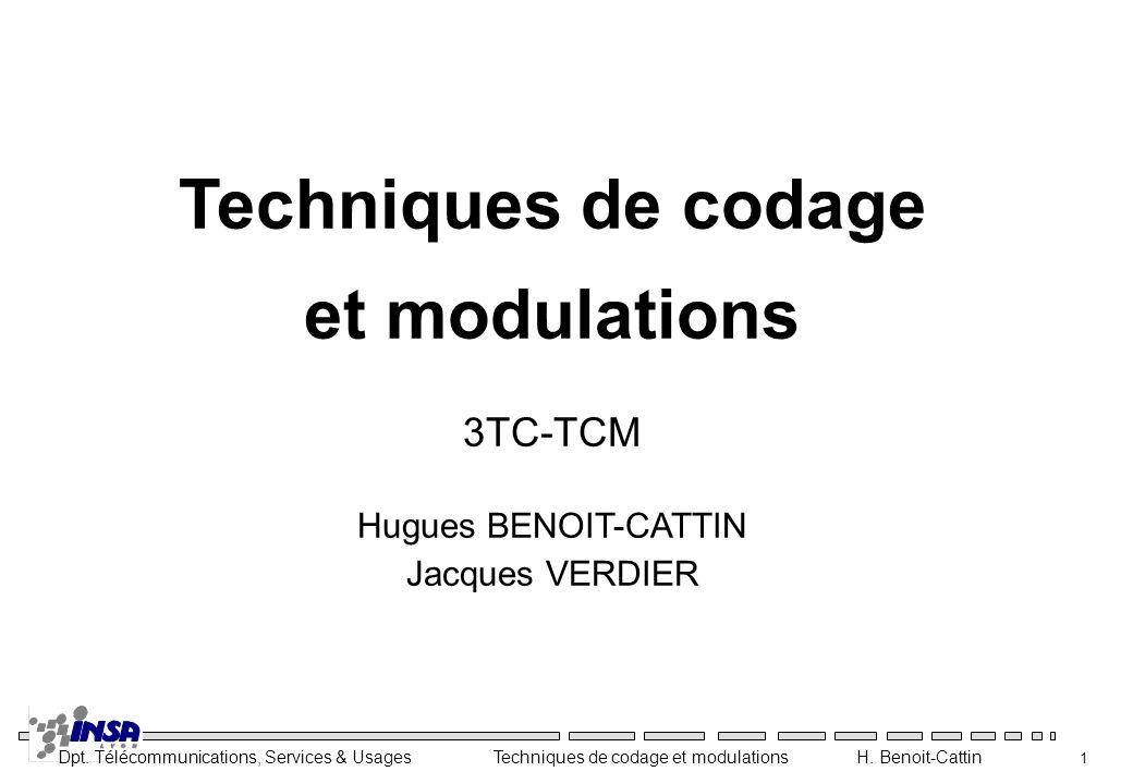 Dpt. Télécommunications, Services & Usages Techniques de codage et modulations H. Benoit-Cattin 32