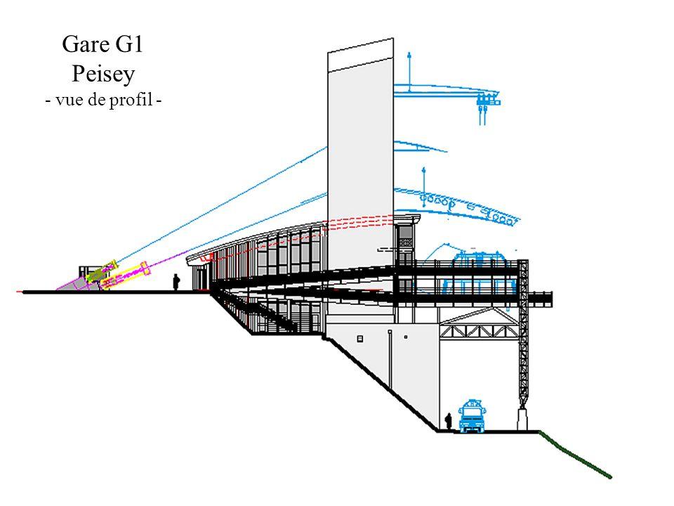 Gare G1 Peisey - vue de profil -