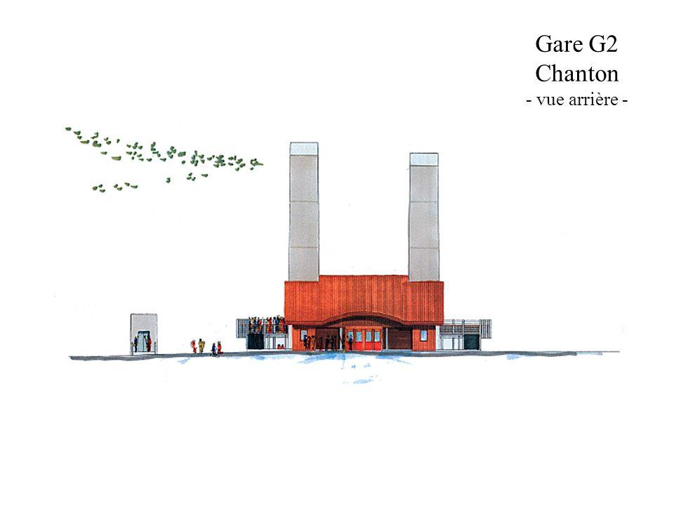 Gare G2 Chanton - vue arrière -