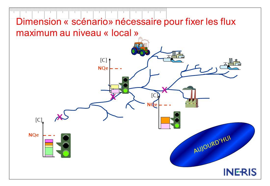 [C] NQe [C] NQe [C] NQe x x x DANS DIX ANS Dimension « scénario» nécessaire pour fixer les flux maximum au niveau « local »