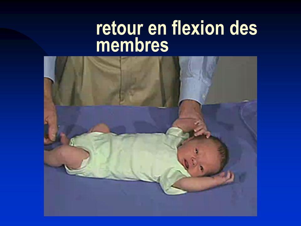 retour en flexion des membres