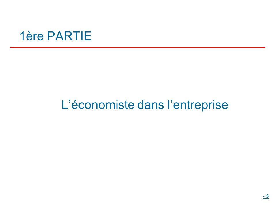 - 5 1ère PARTIE Léconomiste dans lentreprise