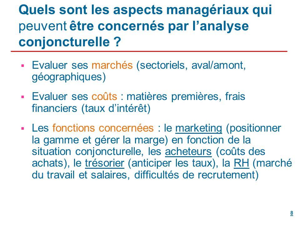 8 Quels sont les aspects managériaux qui peuvent être concernés par lanalyse conjoncturelle .