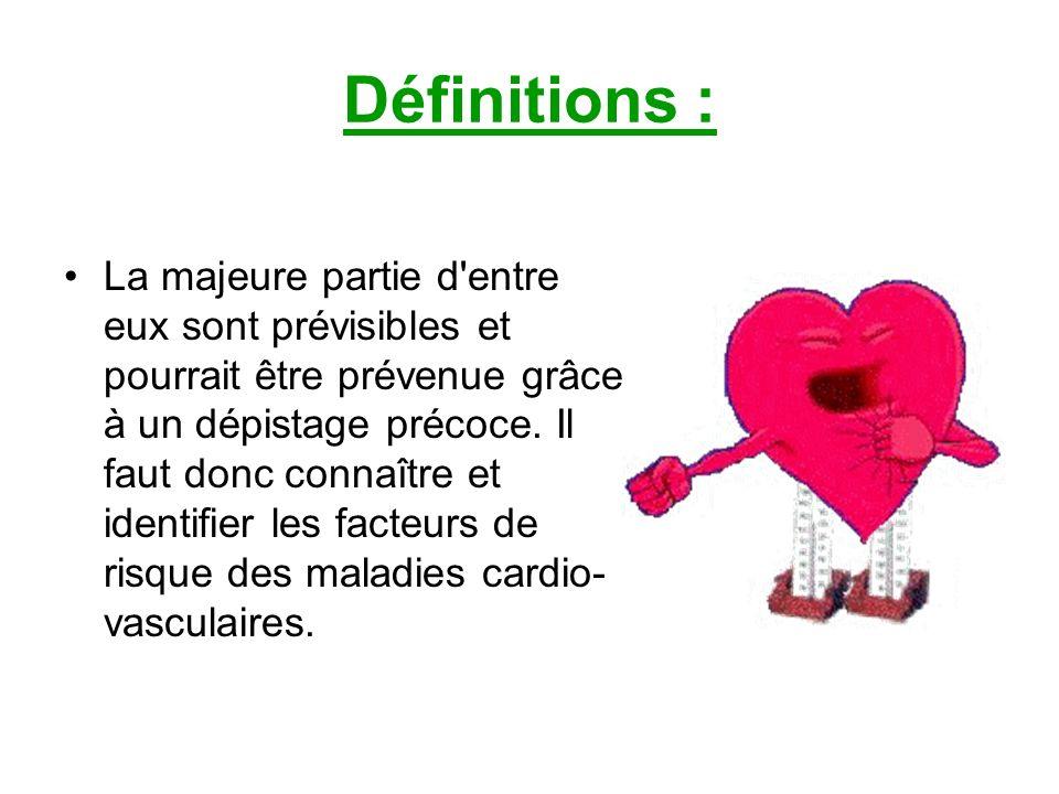 IV) Rôle éducatif: E) observance du traitement L objectif est d éviter la constitution de caillots, de prévenir les risques de rétrécissement des artères, d améliorer la fonction du cœur.