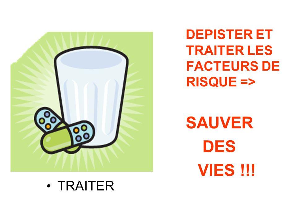 TRAITER DEPISTER ET TRAITER LES FACTEURS DE RISQUE => SAUVER DES VIES !!!