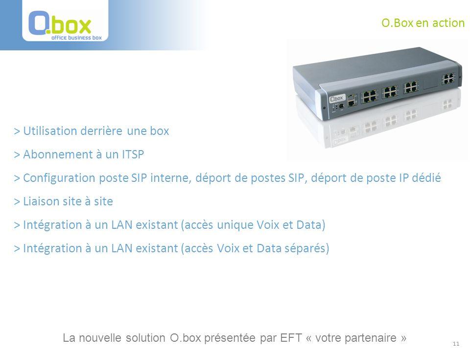 11 O.Box en action > Utilisation derrière une box > Abonnement à un ITSP > Configuration poste SIP interne, déport de postes SIP, déport de poste IP d