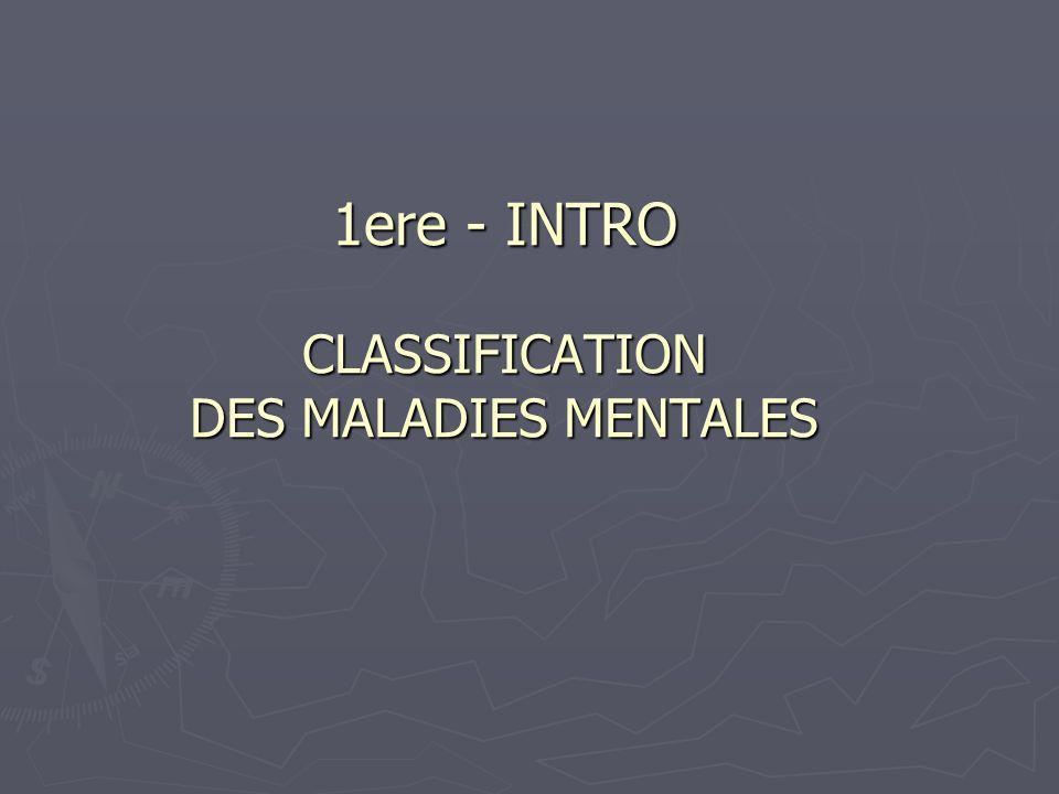 PLAN A- Le Normal et le pathologique A- Le Normal et le pathologique B- La classification des maladies mentales B- La classification des maladies mentales C- La classification internationale actuelle des troubles mentaux C- La classification internationale actuelle des troubles mentaux