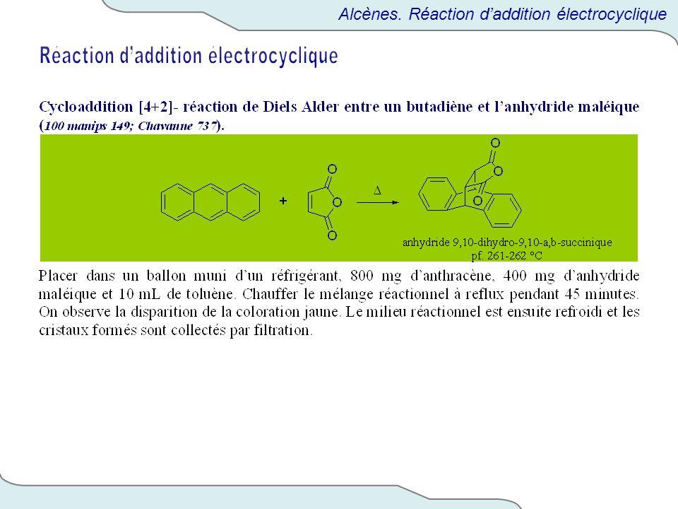 Alcènes. Réaction daddition électrocyclique