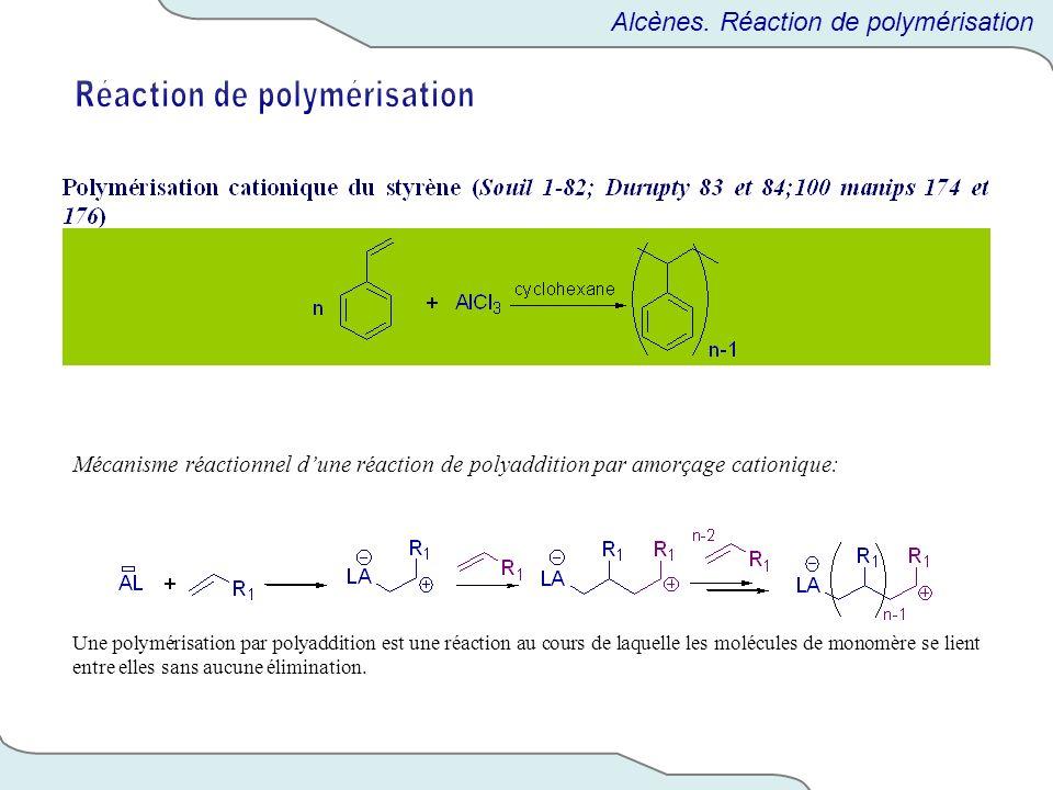 Mécanisme réactionnel dune réaction de polyaddition par amorçage cationique: Une polymérisation par polyaddition est une réaction au cours de laquelle