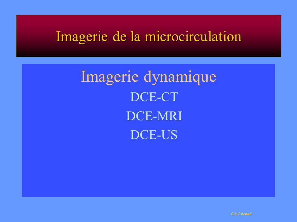 CA Cuenod Imagerie de la microcirculation Imagerie dynamique DCE-CT DCE-MRI DCE-US
