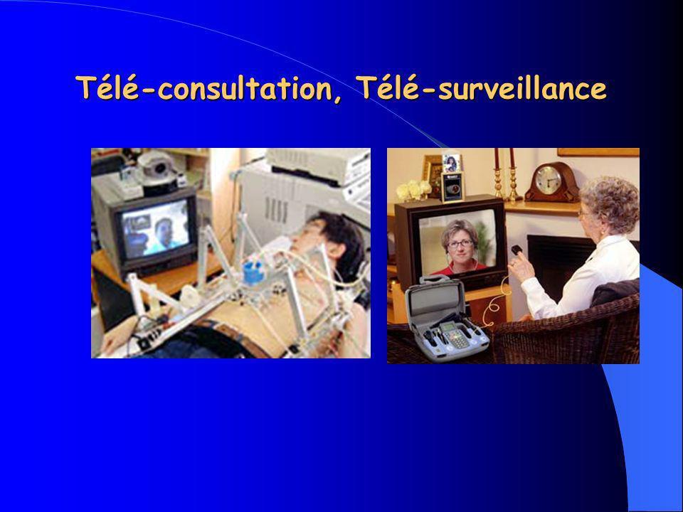 illustrations : Télé-staff, Télé- formation, téléchirurgie