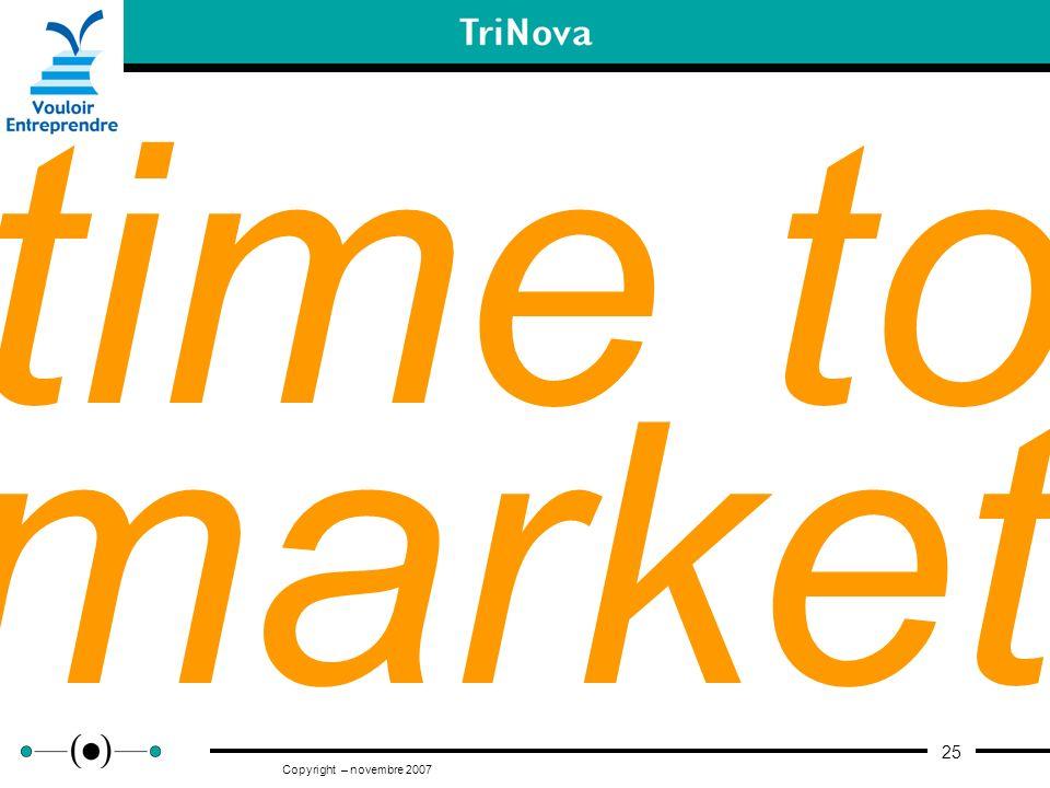 25 Copyright – novembre 2007 time to market